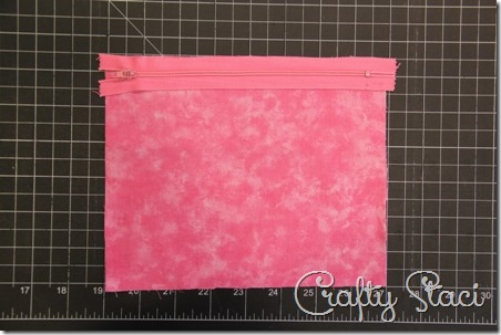 Easy Lined Zippered Bag - Crafty Staci 3