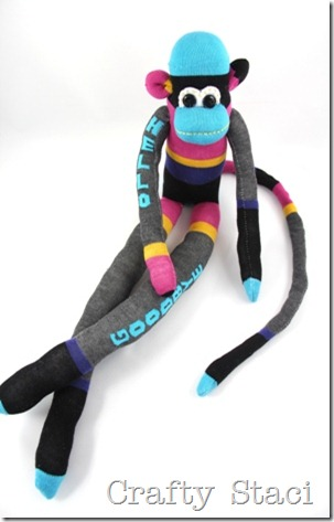 Sock Monkey - Crafty Staci 1