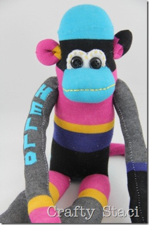 Sock Monkey - Crafty Staci 4
