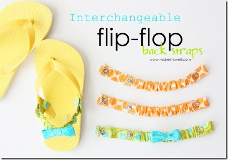 Interchangeable Flip Flop Back Straps - Make it and Love it