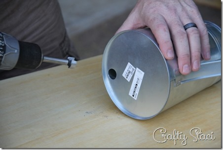 Galvanized Tub Sink and Watering Can Faucet - Crafty Staci 6