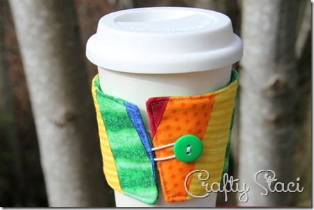 Rainbow Coffee Sleeve - Crafty Staci 1