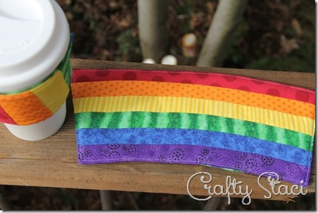 Rainbow Mug Mat - Crafty Staci 1
