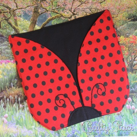 Hot Pad of the Month - Ladybug by Crafty Staci