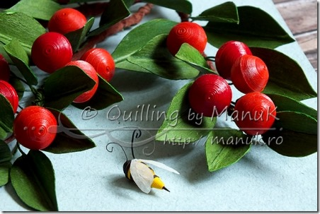 Quilled Cherries by Manuk