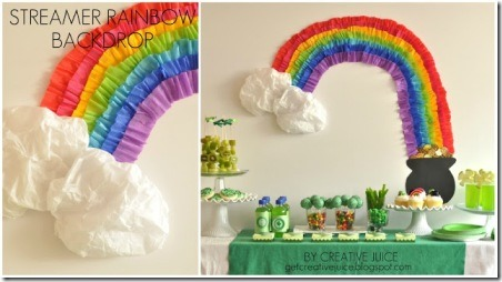 Rainbow Party Streamer Backdrop from Get Creative Juice