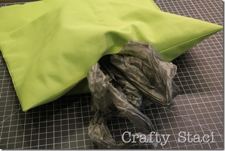 Outdoor Pillows Stuffed with Plastic Bags - Crafty Staci 2