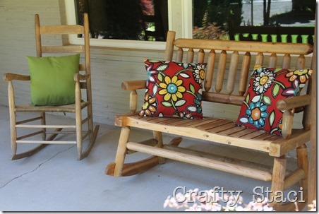 Outdoor Pillows Stuffed with Plastic Bags - Crafty Staci 5