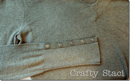 Adding Detail to Spring Sweater - Crafty Staci 2
