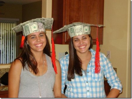 Money Grad Hats from Pickles and Ice Cream
