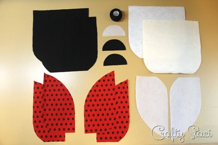Pieces for Ladybug Hot Pad