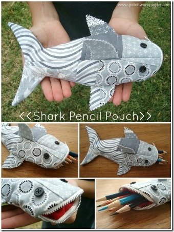 Shark Pencil Case by Patchwork Posse