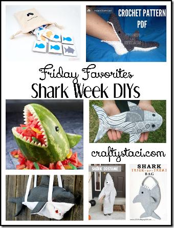 鲨鱼周Diys  -  Crafty Staci的星期五最爱