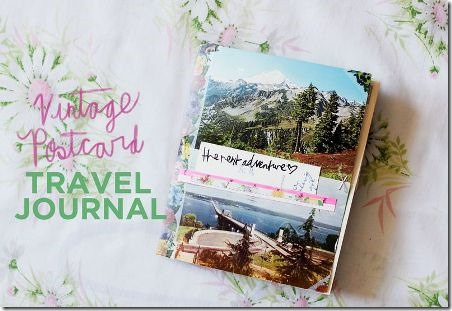 Vintage Postcard Travel Journal from A Beautiful Mess