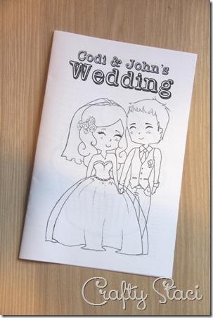 孩子们婚礼着色书 - 狡猾的Staci 1