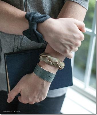 Lia Griffith的三个DIY皮革手链