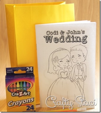 Kids\' Wedding Coloring Book — Crafty Staci