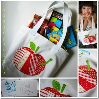 1 Hungry Hippie的拼布Apple手提袋