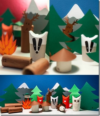 山谷熟食店里森林出现日历中的动物