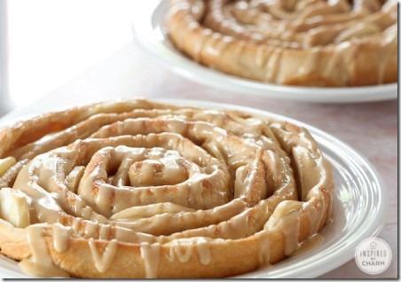 灵感源自魅力的螺旋苹果面包和焦糖苹果釉