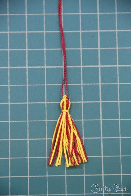 Tassel with tie