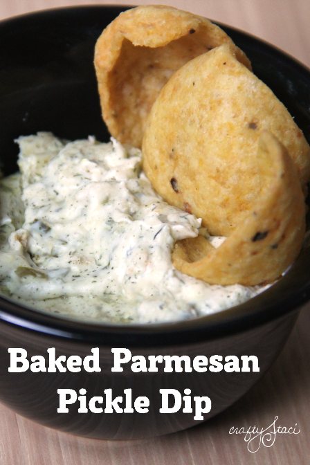 Baked Parmesan Pickle Dip from Crafty Staci