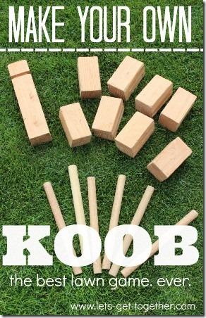 DIY Koob Game from Lets Get Together