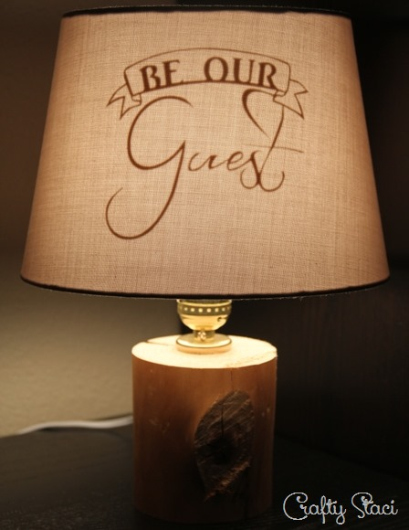 Be Our Guest Lamp on Crafty Staci