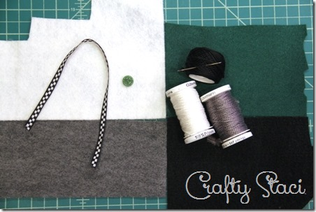 Felt Camera Ornament ingredients - Crafty Staci