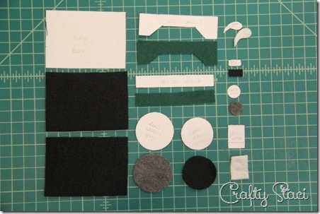 Felt Camera Ornament Pieces - Crafty Staci