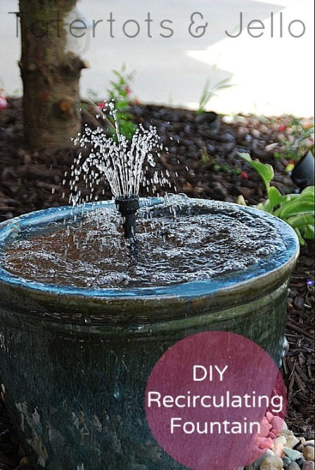 DIY Recirculating Fountain from Tatertots and Jello