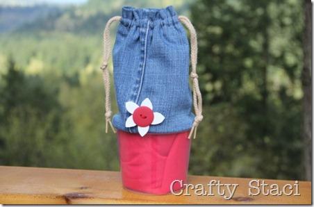 酸奶浴缸和牛仔裤抽绳包-Crafty Staci 0