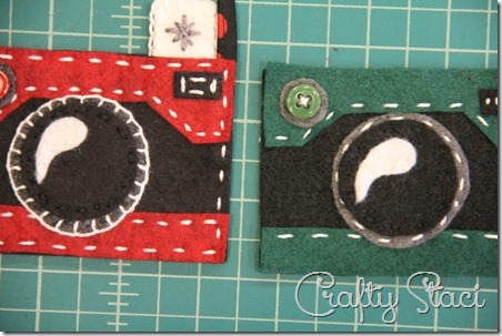 Felt Camera Ornament Step 5 - Crafty Staci