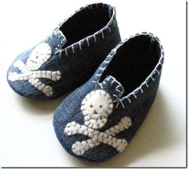 骷髅婴儿鞋