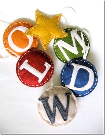 Felt Monogram Ornaments from Say Yes