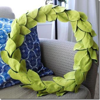 Leafy Spring Wreath by Dollar Store Crafts