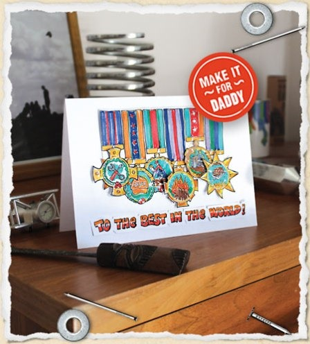 Father's Day Card with Custom Medals from What I Made