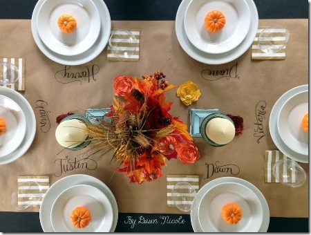 Kraft Paper Table Runner from  Dawn Nicole