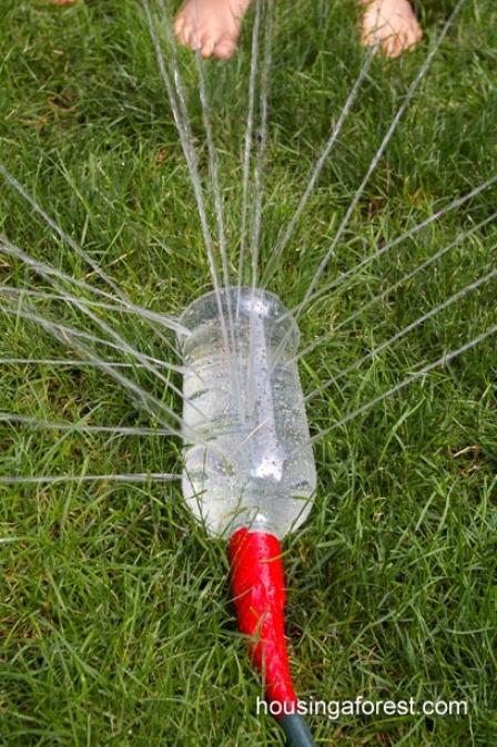 来自森林的自制洒水器