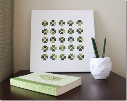 St Patrick's Clover Canvas Art by Lovely Clusters
