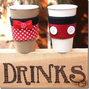 米奇和米妮咖啡杯子套-Crafty Staci