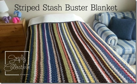 Striped Stash Buster Blanket from Simply Collectible Crochet