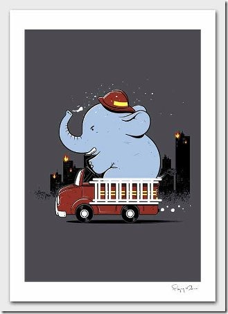 Firefighter from flyingmouse365 on Etsy