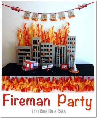 Fireman party from That Cute Little Cake