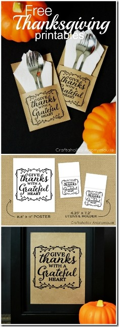 Thanksgiving Printables from Craftaholics Anonymous