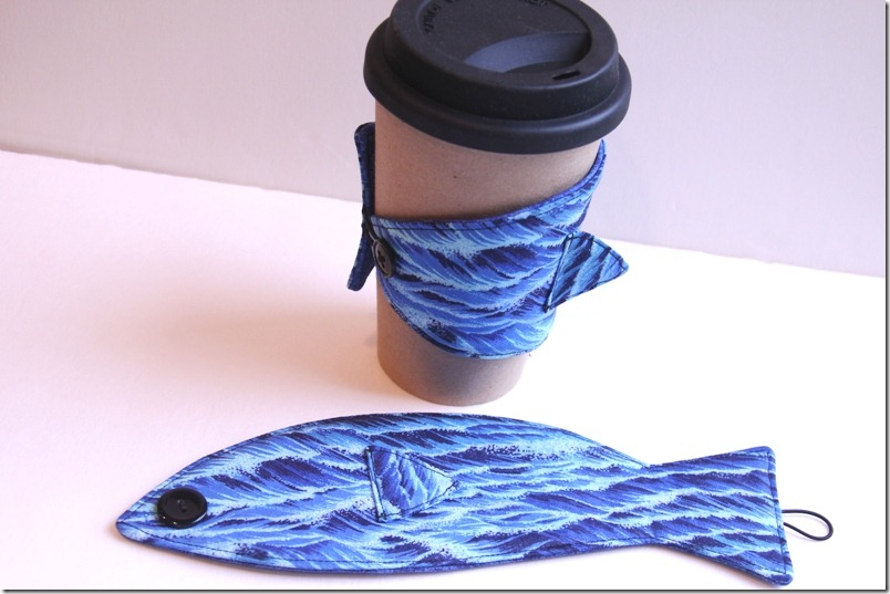 Coffee Cup Sleeve  Fish - Crafty Staci