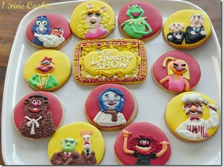 布偶显示来自1个精美Cookie的Cookie