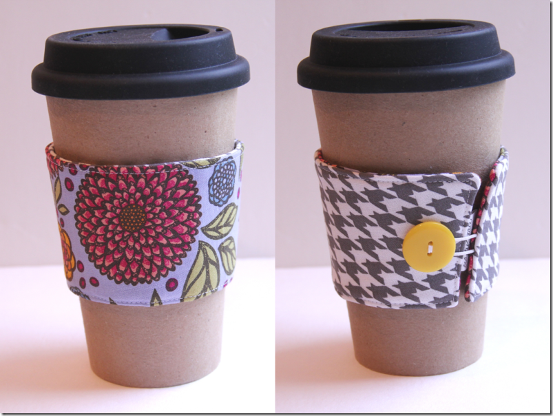 Coffee Cup Sleeve Flowers - Crafty Staci
