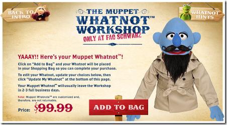 Fao Schwarz的Muppet Whatnot工作坊