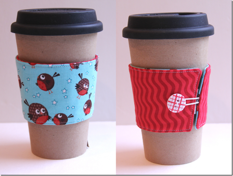 Coffee Cup Sleeve Robins  -  Crafty Staci
